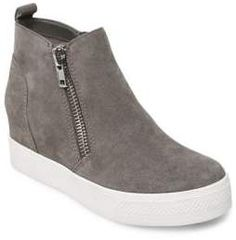Steve Madden Wedgie Zipped Suede Sneakers 3c589e932