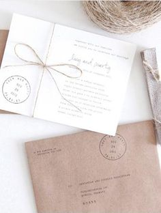 Use a typewriter your your save the dates and invitations