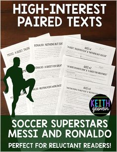 Engaging paired texts about the world's most famous soccer players! Includes three sets of paired passages, quizzes, and a writing prompt.