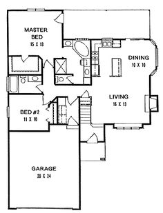 800 Sq Ft 2 Bedroom Cottage Plans | Bedrooms, 2 Baths, 1000 Sq. Ft | Master  Bedroom Retreat Design Ideas | Pinterest | Bath, Bedrooms And House Part 63