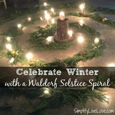 The Waldorf Winter Solstice Spiral is a great way to teach kids about the winter solstice and is a fun homeschool activity for parents and kids!