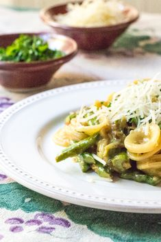 Asparagus carbonara with horseradish breadcrumbs from the Wimpy Vegetarian #FoodNetwork #FNDish