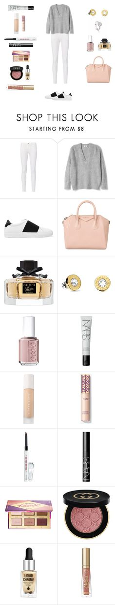 """Untitled #50"" by margiewithers ❤ liked on Polyvore featuring Frame, Givenchy, Gucci, Bucherer, Tommy Hilfiger, Essie, NARS Cosmetics, Puma, Benefit and tarte"