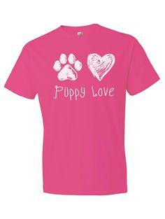 Puppy Love Hot Pink Tee