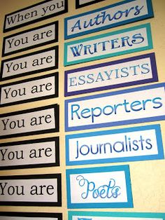 """The Inspired Classroom: """"You Are"""" for My Middle School, Language Arts Classroom"""