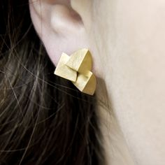 Bloom Earrings (Triple) | Contemporary Earrings by contemporary jewellery designer Sarah Straussberg