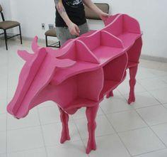 'Estante Vaco' by Estudio Antimateria Shows You the Beef #homedecor trendhunter.com