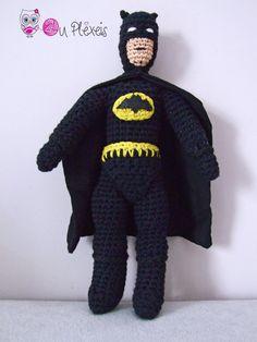 Batman Doll, Crochet Batman amigurumi, Boys Toy, Handmade Toy for Boys, Crochet Super Hero, Handmade Batman by Ouplexeis on Etsy