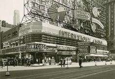 1937 TIMES SQUARE International Casino WRIGLEYS NEON Daytime NYC