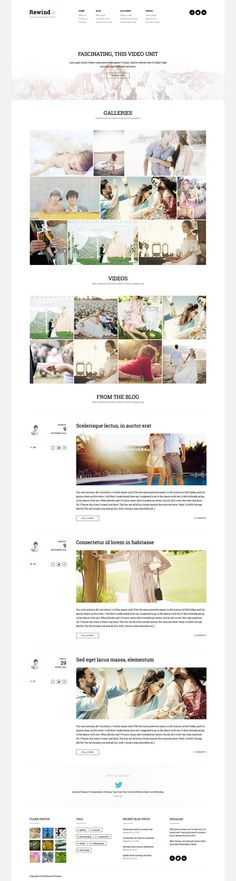 Rewind - Photography Retina WordPress Theme by haşim ekinci, via Behance