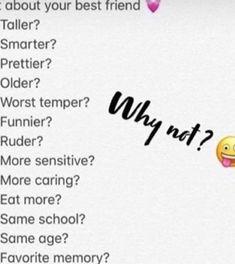 Snapchat Story Questions, Snapchat Question Game, Poll Questions, Instagram Story Questions, Fun Questions To Ask, Snapchat Stories, Instagram Story Ideas, Snapchat Friend Emojis, Snapchat Posts