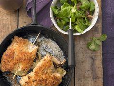 Putenschnitzel mit Käse-Schinken-Füllung dazu Feldsalat - smarter - Zeit: 30 Min. | eatsmarter.de Schnitzel und Salat – mehr braucht es nicht!