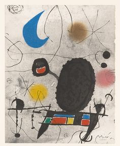 Joan Miró (Spanish, 1893-1983). L'oiseau solaire l'oiseau lunaire etc., ca. 1960s. The Metropolitan Museum of Art, New York. The Pierre and Maria-Gaetana Matisse Collection, 2002 (2002.456.108). © 2016 Artists Rights Society (ARS), New York #PowerofPrints #MetonPaper100