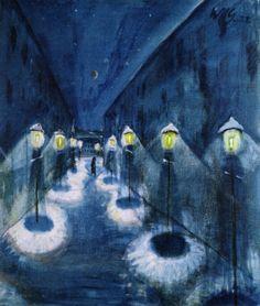 Walter Gramatté Street By Night, 1922