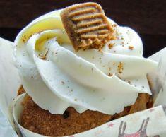 Rezept Spekulatius-Cupcakes mit weißem Schokoladentopping von Cyle - Rezept der Kategorie Backen süß