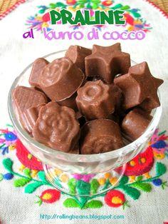 Praline al burro di cocco #ricette #dolci