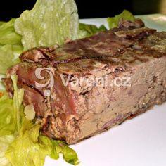 Fotografie receptu: Lahůdková paštika z kuřecích jater pečená ve vodní lázni Pickles, Steak, Beef, Food, Meat, Essen, Steaks, Meals, Pickle