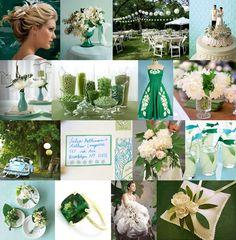 LOVE this one:  emerald & aquamarine inspiration... very beachy!