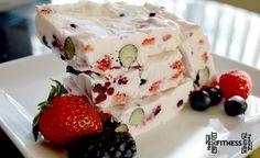 Frozen greek yogurt berry bars