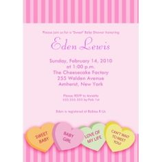 A Valentine's Day themed baby shower is a fun way to celebrate a precious baby on the way this winter.