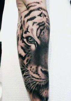 unique Tattoo Trends - Tiger Eyes Men's Tattoos...