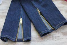 DIY Zipper Jeans