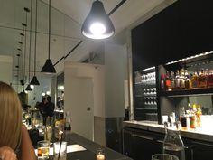 Lights over Marisol bar seating