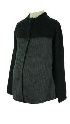 Lilo Maternity Two Tone Cardigan Charcoal Gray-Black L Lilo Maternity. $69.00. Save 23%!
