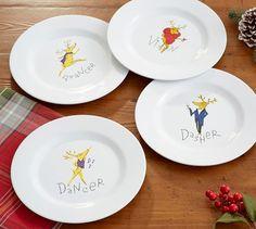 reindeer salad plates