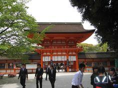 下賀茂神社の入り口。