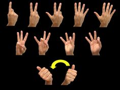 """numbers"" ASL American Sign Language"