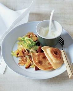 Potato Pierogi With Sauteed Cabbage and Apples recipe