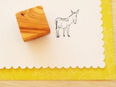 Doleful Donkey Olive Wood Stamp by ahueofduckeggblue on Etsy