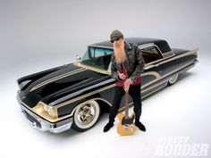 Check out this 1958 Ford Thunderbird owned by ZZ Top frontman Billy F. Gibbons with a body built by SO-CAL Speed Shop, an interior done by Gabe's Street Rod and Custom Interiors and more - Street Rodder Magazine Ford Thunderbird, Zz Top Car, Top Cars, Billy Gibbons, Rat Rods, New Wave, Custom Cars, Vintage Cars, Classic Cars
