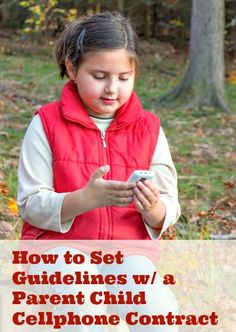 Giving your child their first phone? Here's a few tips & an agreement to help set ground rules.