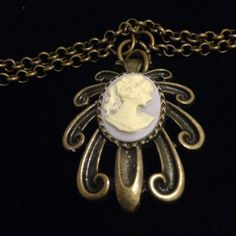 Vintage style cameo short necklace  on Etsy, $15.00