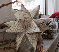 DIY Bascetta Stern aus Buchseiten, Foto, Anleitung, Geschenk, selbst, Weihnachten, Advent, mit Kindern und Erwachsenen basteln, Schmuck, Dekoration, Weihnachtsbaum, Adventsgesteck