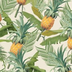 Loving these design wallpapers by South African design shop District Six in Berlin. Pineapple and jungle wallpaper <3 Click through to learn more (in German)!