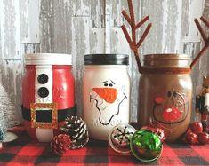Christmas Mason Jar Set, pint size jars