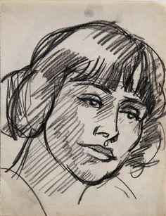 J D Fergusson   (03) Pensive Girl