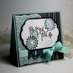 Handmade Card  Greeting Card  5.25 x 5.25  by CardInspired on Etsy