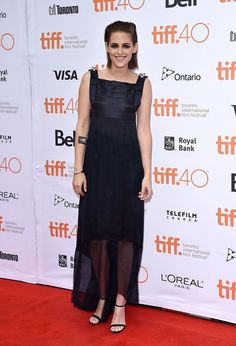 "Kristen Stewart Has Arrived For TIFF 2015 Kristen Stewart looks drop dead gorgeous in this stunning all-black piece at the premiere of ""Equals"" in Toronto.(GETTY IMAGE)"