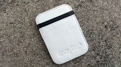 """Maybe """"BADGER"""" (White/ black) Leather Wallet"""