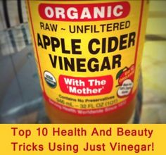 Vinegar health tips