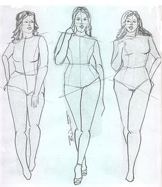 plus size croquis | Dream Artists: Fashion illustration Croquis