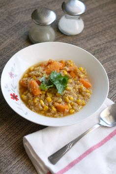 corn quinoa and sweet potato soup recipe, gluten free and vegan