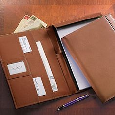 Tyler Folio - Leather Portfolio, Padfolio, Pad Holder, Folio, Portfolio