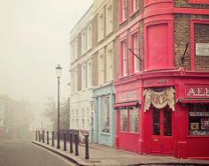 London Photography, Notting Hill fine art print. From Eye Poetry Photography on etsy. Christmas Gift Ideas | Gifts for Her #london #nottinghill #photo #photography #red