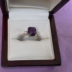 Rare 3.6 Carat Purple Sapphire Ring - Stunning!