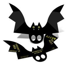 Batty Birthday -- Halloween Birthday Party Invitations #WINPTG